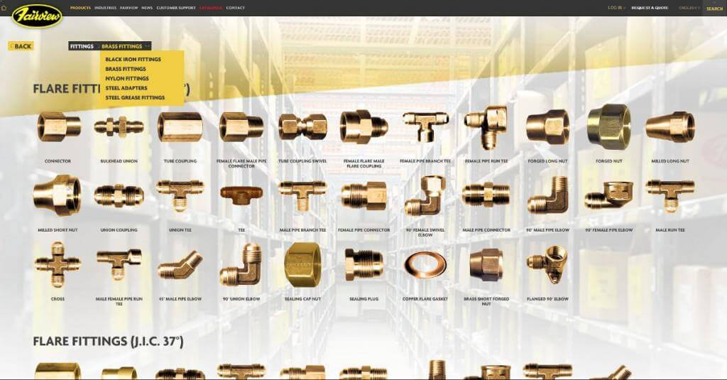 Fairview-fittings-web-design-project