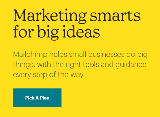 Content example from Mailchimp